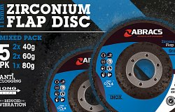 BRAND NEW 115mm Zirconium Flap Disc Mixed Grit Pack
