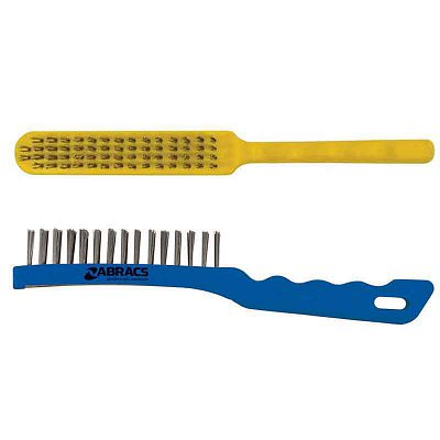 4 Row Plastic Handled Brushes